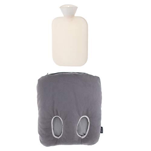 P Prettyia Fußwärmer Wärmflasche mit Deckel für die Füße, 2 L