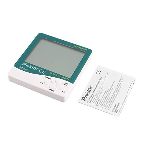 FCGV Pros'Kit NT-311 Digitales Thermometer Hygrometer Temperatur-Feuchtemessgerät - Grün