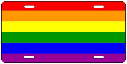Rogue River Tactical LGBT Rainbow Flagge License Plate Neuheit Auto Tag Vanity Geschenk Gay Lesbian Pride Trans Bi -