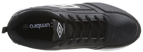 Umbro Moston, Baskets mode homme Noir (202-Noir/Blanc)
