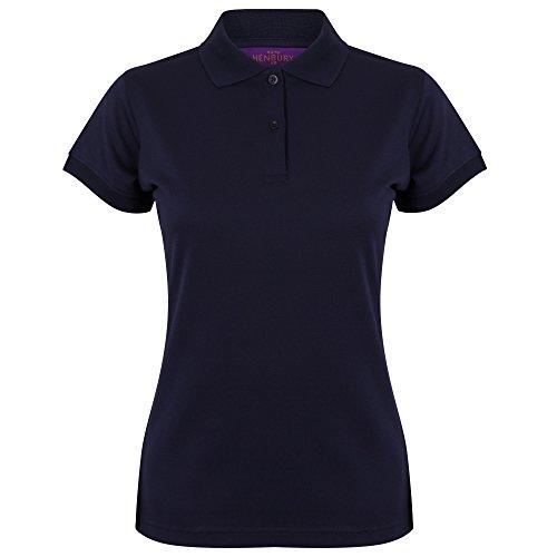 Polo forme ajustée évacuant l'humidité Henbury Coolplus® pour femme Oxford Navy