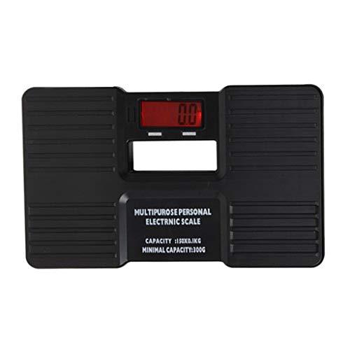 B Blesiya LCD Display Digitale Personenwaage Körperwaage Reise Gewichtswaage, Schwarz