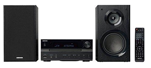 MEDION P64262 Micro Audio System Kompaktanlage (DAB+, Bluetooth, 2x15 W RMS, PLL-UKW-Stereo-Radio, USB-Anschluss, Aux-Anschluss) Schwarz