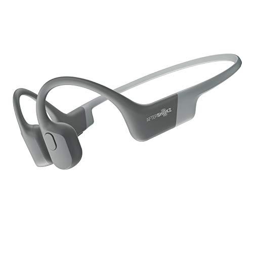 AfterShokz Aeropex, Auriculares de conducción ósea inalámbricos e Impermeables, con diseño Open-Ear,Lunar Grey
