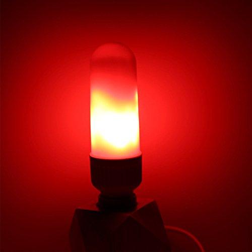 Rokoo E27 E26 LED efecto de llama bombilla de fuego maíz bombilla 5W simulado naturaleza parpadeo decoración de la lámpara