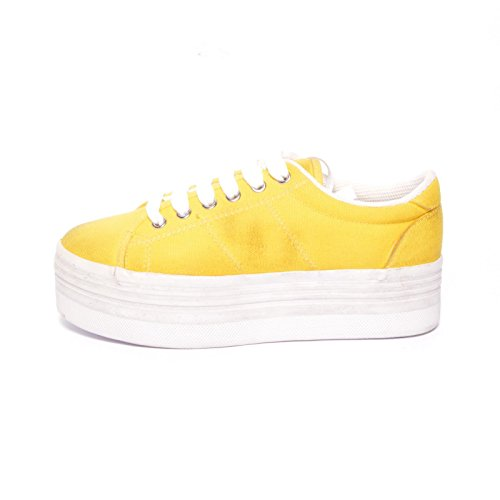 JEFFREY CAMPBELL - .ZOMG CANVAS WASH - YELLOW W Giallo