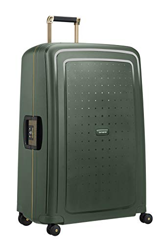 Samsonite 59237/7348 S'Cure DLX Spinner 81 Bagaglio a Mano, Dark Green/Gold Deluscious, XL (81 cm - 138 L)