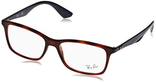 Ray-Ban Herren Brillengestell 0rx 7047 5574 56, Braun (Matte Light Havana) - 56 Brillen