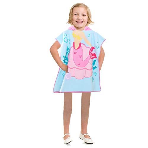 Erfula Kinder Kapuzen Strandtücher Bademantel Badetücher - Mädchen Jungen Baumwolle Sporthandtücher Baby Bade Handtücher Badeponcho Kapuzentuch