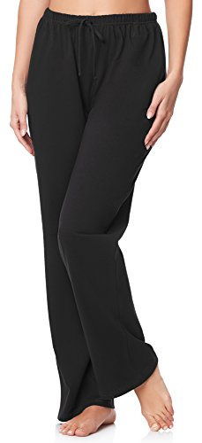 Merry Style Damen Schlafanzugshose MPP-001 (Schwarz (800), M) (Damen Pyjama Hose)