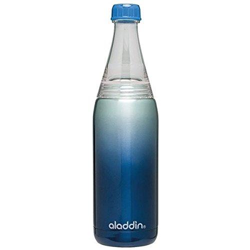 Aladdin 863006 Twist & Go Bouteille Acier Inoxydable Bleu 7 x 7 x 27 cm