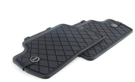 Original MINI Allwetter-Fußmatten Gummifußmatten LHD Essential Black hinten MINI F56