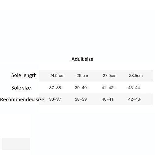 Confortable Chaussons de bain Chaussons antidérapants Doubles pantoufles intérieures Chaussons de salle de bain (6 couleurs en option) (taille facultative) Augmenté ( Couleur : D , taille : 37(36-37)  C