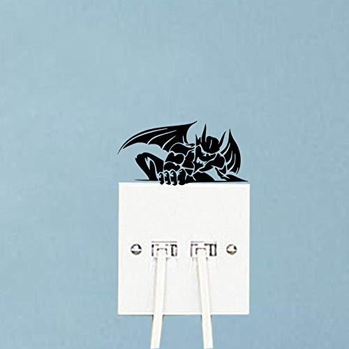 amayituo Wasserspeier Lustige Cartoon Home Room Decor Vinyl Wandaufkleber Schalter Aufkleber 5Ws1235 @ Schwarzdekorativer Wandaufkleber
