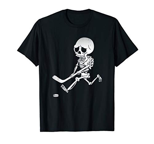 Halloween Ice Hockey Skeleton Gift Shirt T-Shirt