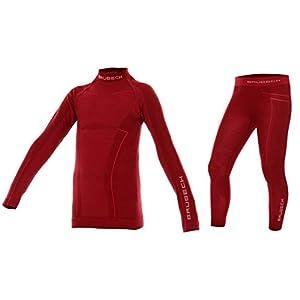Brubeck Merino Kinder Thermo Funktions-Unterwäsche Set: Shirt + Hose   Sport   Schutz   Outdoor   Ski-Wäsche   41% Merino-Wolle   LS13690 + LE12130