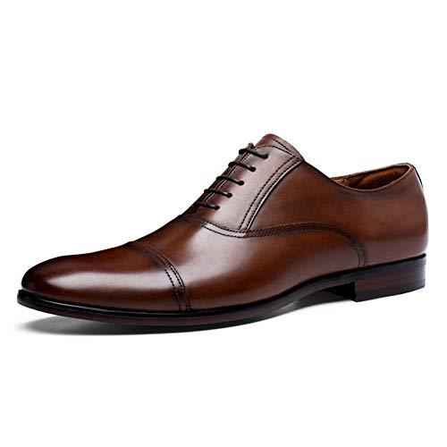 Patent Croc (Vollnarbenleder Business Kleid Schuhe Männer Retro Patent Echtes Leder Oxford Schuhe für Männer Größe 38-47)