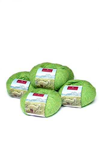 APU KUNTUR 100% Alpaka Wolle | Strick-Häkel-Garn weich, warm und kratzfrei | 5er Vorteilspack | 100m, Nadel 4,5 | wunderschöne Farben zum angenehmen Stricken und häkeln | grün -