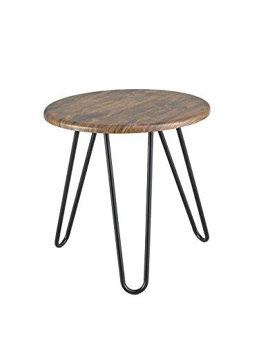 ASPECT Brockton Table d'appoint Ronde, Bois, Vintage, 45 x 45 x 45 cm