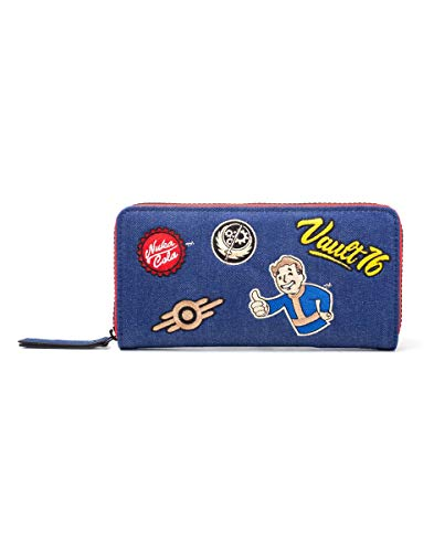 Fallout 76 - Premium Damen Geldbörse - Portemonnaie - Vault Boy - Nuka Cola - Logo