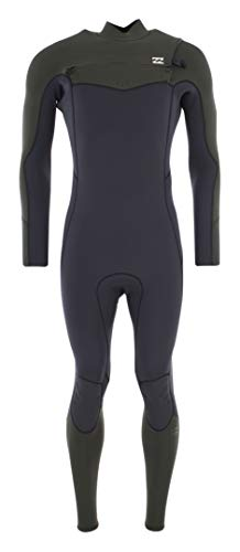 BILLABONG Furnace Absolute 4/3 MM Chest Zip Wetsuit Dunkle Olive - Easy Stretch Thermal Ofenausfütterung - 250{370b75d2f0b3e95b497eb0b566acfb0afefee84765a78f0fe1cfec9ee321ccc9} Stretch - Dry