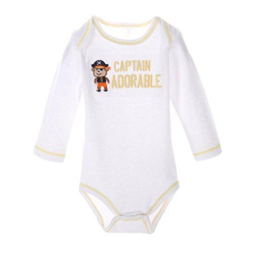 Dooxi Unisex Baby Junge Mädchen Langarm Strampler Overall Gedruckt Spielanzug Bodysuit Baby Geschenkset Affe 12 (Lustig Langarm Affe)