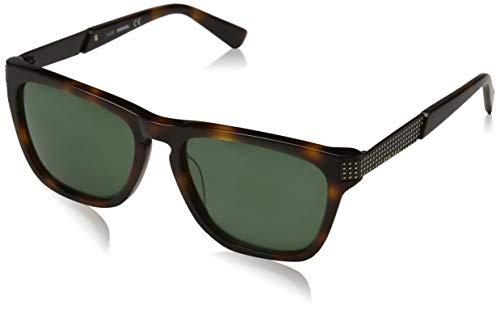 Diesel Herren DL0236-52N-54 Sonnenbrille, Dark Havana/Green, 54