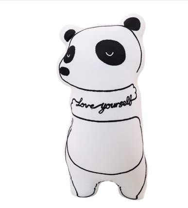 Panda Kostüm Cute Bear - Soft Cute Cartoon Animal Dog Pillow Plush Fabric Toy Doll Big Bear Cushion Sofa Backrest Panda Models 45Cm