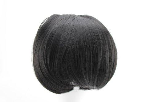 miss20Haarteil Hair Bun Hauben-Haargummi hairpiece-jet Nr. 1b # (Bun Nr)