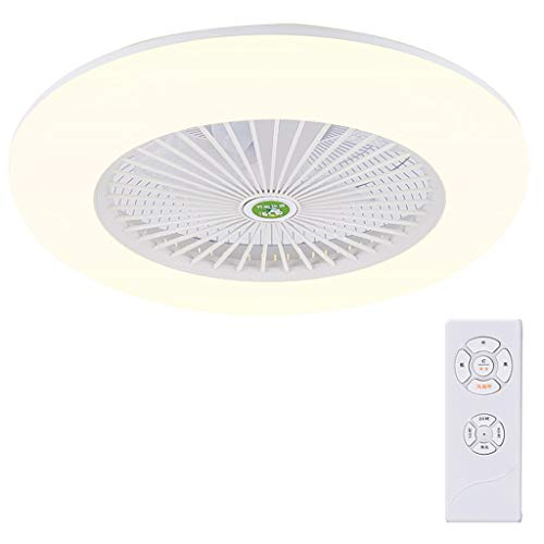 Ceiling Fan Light JY- Luz de Ventilador de Techo, lámpara LED Regulable con Cuchillas Invisibles retráctiles...