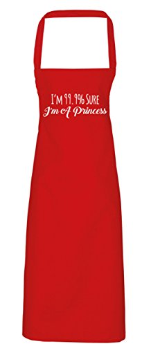 hippowarehouse I 'm 99.9% Sure I 'm a Princess Schürze Küche Kochen Malerei DIY Einheitsgröße Erwachsene, rot, (Queen Red Diy Kostüm)