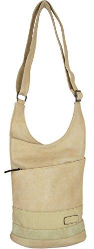 CASAdiNOVA Damen Handtasche Beige Stylische Große Alltags Tasche Moderne Sportliche Bag Veganes Leder MATERIAL-MIX
