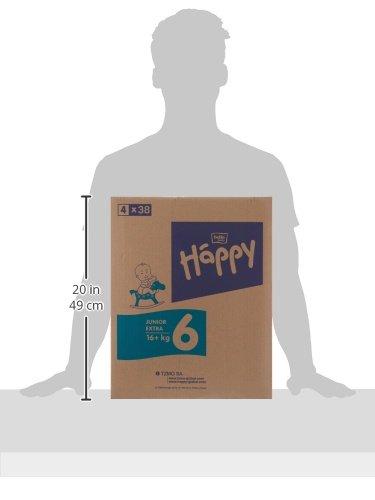 Bella Baby Happy Windeln Größe 6 Junior Extra 16+ kg Big Pack, 4er Pack (4 x 54 Windeln) - 6