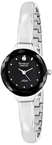 armitron-femme-75-5198bksv-diamond-accented-black-dial-silver-tone-bangle-montre