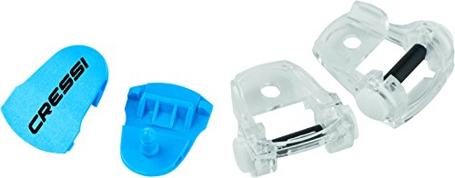 Cressi Buckles Assembly for Diving Mask, blue/clear -