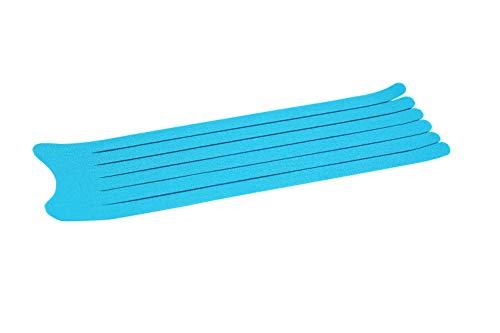 K-Active®Tape PreCut Lymphatic 7,5 cm x 25 cm I 20 Vorgeschnittene Kinesiologische Tapes für einfaches Tapen von Schulter, Arm, Bein oder Knöchel I Für Notfälle oder Erste Hilfe geeignet (BLAU) - Bein-anlage