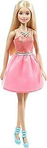Mattel Barbie drn76-Fashionistas muñeca Vestido de Brillantina y türkisfarbenen Zapatos, Vestidos para muñecas