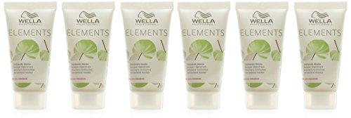 Wella Elements stärkende Maske, 6er Pack, (6 x 0,03 L) (Stärkende Maske)