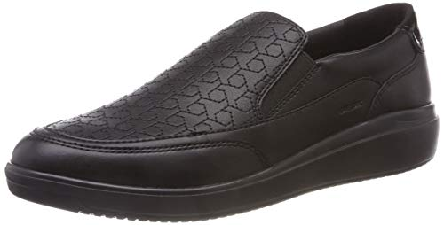 Geox d tahina b, sneaker infilare donna, nero (black c9999), 37 eu