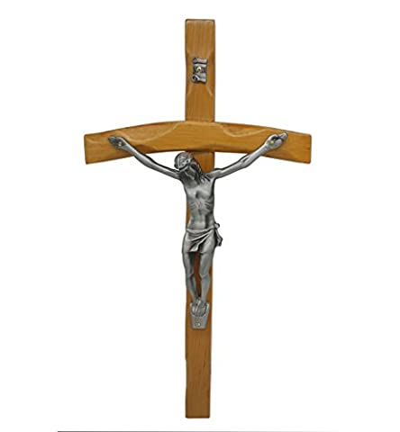 FengMicon Wall Cross Hanging Crucifix Metal Corpus Religious 30