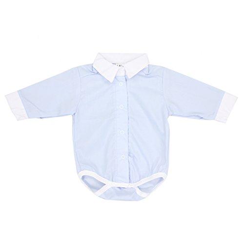 TupTam Unisex Baby Hemd-Body Langarm mit Kragen, Farbe: Blau, Größe: 80