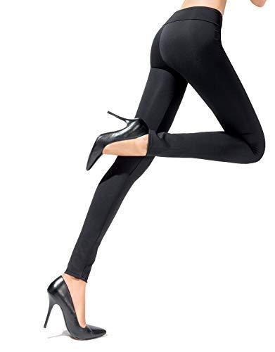 LEGGINGS PUSH UP | LEGGINGS MODELLANTI E CONTENITIVI | SHAPER | NERO, BORDEAUX, NAVY | S, M, L | MADE IN ITALY | (Nero, S)