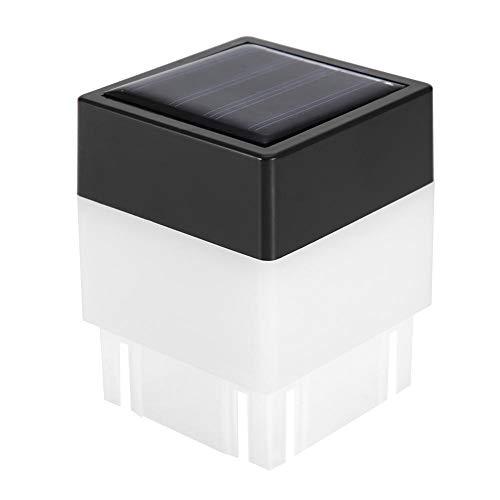 Riuty Solar Square Zaun Licht, 4Pack Post Cap Lichter warmes Licht Landschaft Lampe wasserdichte Outdoor Cap für Deck oder Zaun -
