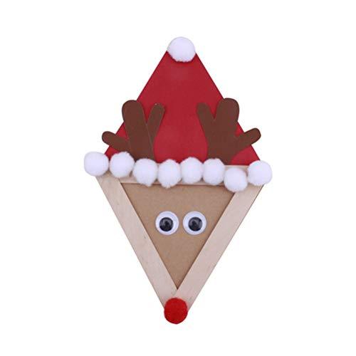 PRETYZOOM 6 STÜCKE Weihnachten DIY Papier Elch Cartoon Dekoration für Weihnachten Weihnachten Wohnzimmer Schlafzimmer Party Wohnkultur