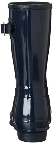 Hunter Damen Wmn ORG Short Gloss Gummistiefel Blau (Navy)