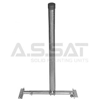 A.S.SAT 51209 Dachsparrenhalter inkl. 90cm Mast Ø 48 mm verzinkt Tüv geprüft
