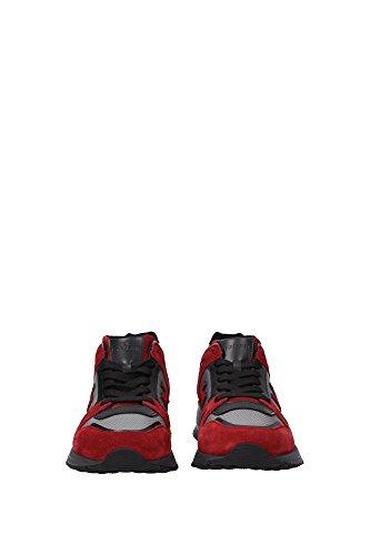 HXM2460U871E6F876S Hogan Sneakers Uomo Camoscio Rosso Rosso