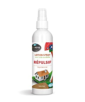 Biovetol - Spray Répulsif éloigne Chiens et Chats - 240 ML