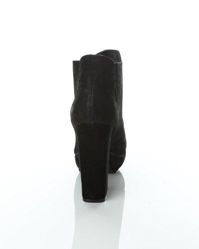 Diona cuir en Pieces Bottines Pieces Noir 4EvInvqAwS