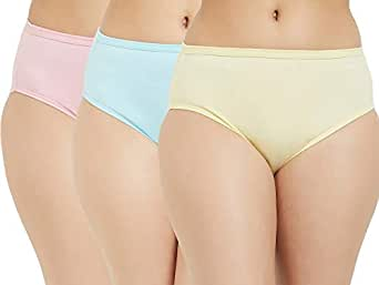 Fruit of the Loom Women's Plain Cotton Hipster (Pack of 3) (FHPS01-3P-LA1S1-Candy Pink, Tanager Turquoise and Pastel Yellow-S)